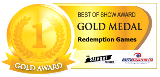 2016 BOSA AWARDS - GOLD MEDAL - REDEMPTION ARCADE GAMES