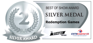 2015 BOSA AWARDS SILVER MEDAL  |  REDEMPTION ARCADE GAMES